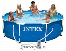 Бассейн каркасный Intex Metal Frame Pool 28202/720667